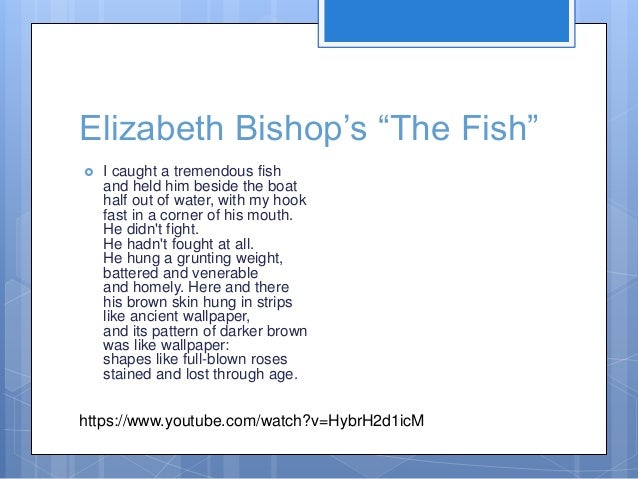 Ewrt 1 c class 11 psyc crit for The fish elizabeth bishop analysis