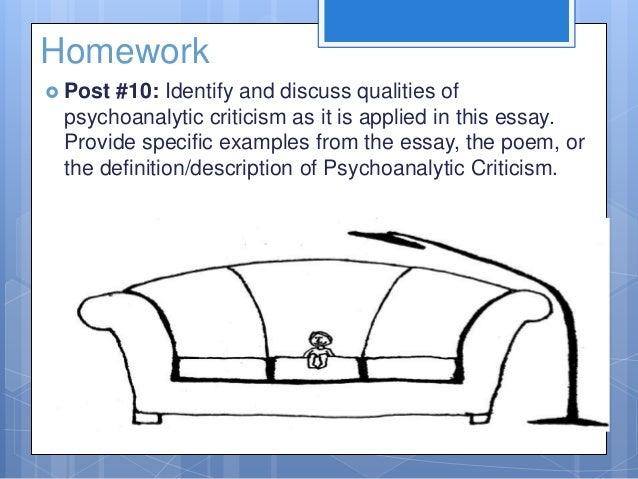 psychoanalysis example essay