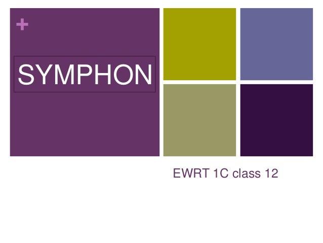 + EWRT 1C class 12 SYMPHON