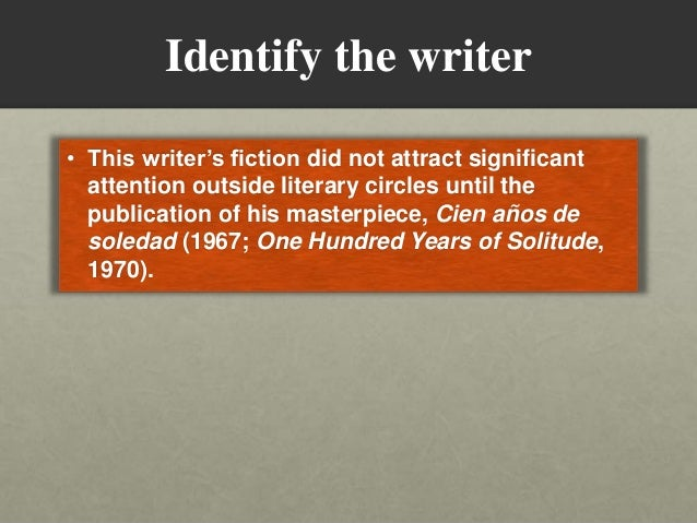 Solitude in one hundred years of solitude essay