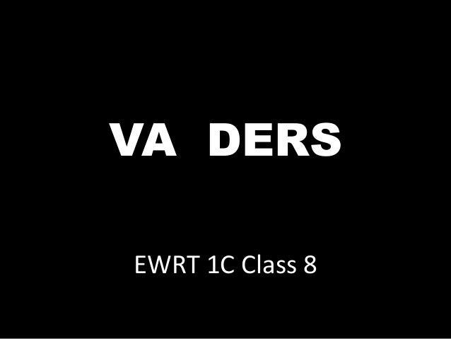 EWRT 1C Class 8 VA DERS