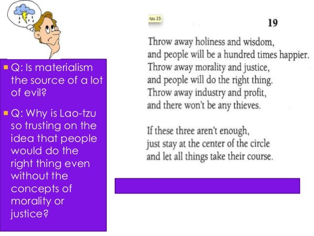 lao tzu and current government essay Lao-tzu vs machiavelli government is the essential authority of a country or state, which directly affects society because it provides key securities.