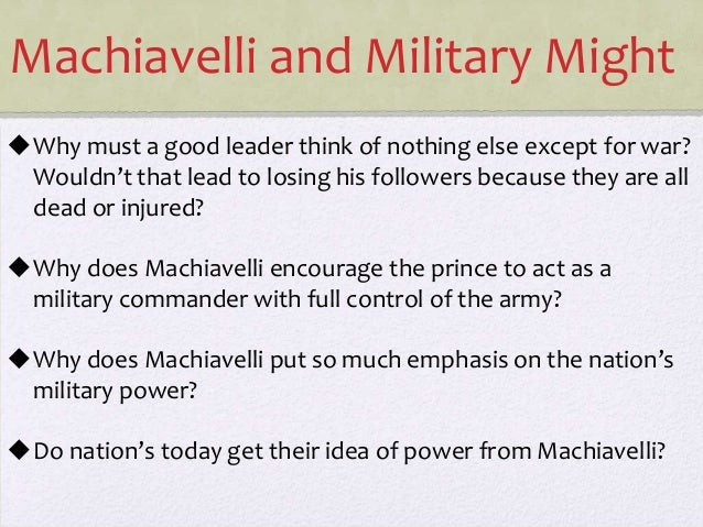 Machiavelli The Prince Views On Human Nature