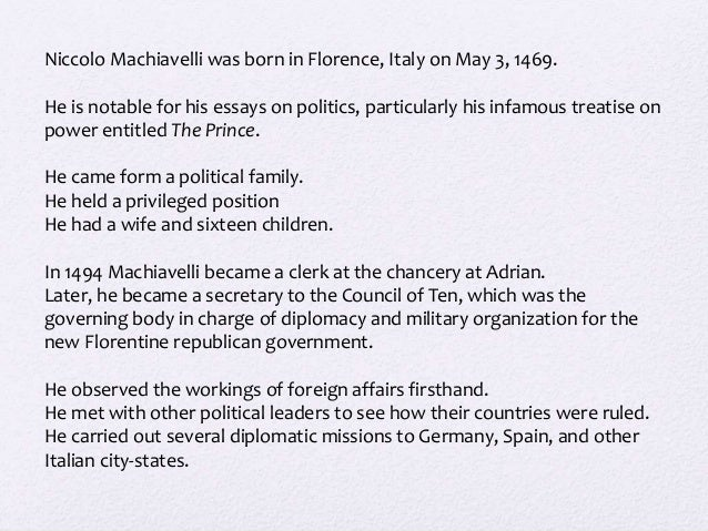The Qualities of a Prince by Niccolo Machiavelli