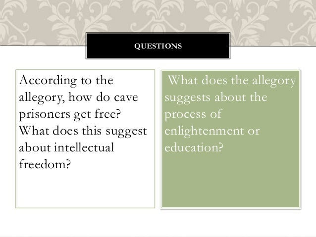allegory of the cave reaction Read this free social issues essay and other term papers, research papers and book reports plato allegory of the cave paper reaction of plato allegory of the cave the allegory of the cave indicates that the differences between educated people.