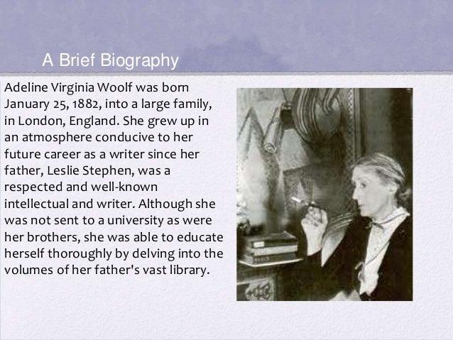Virginia woolf essay on biography