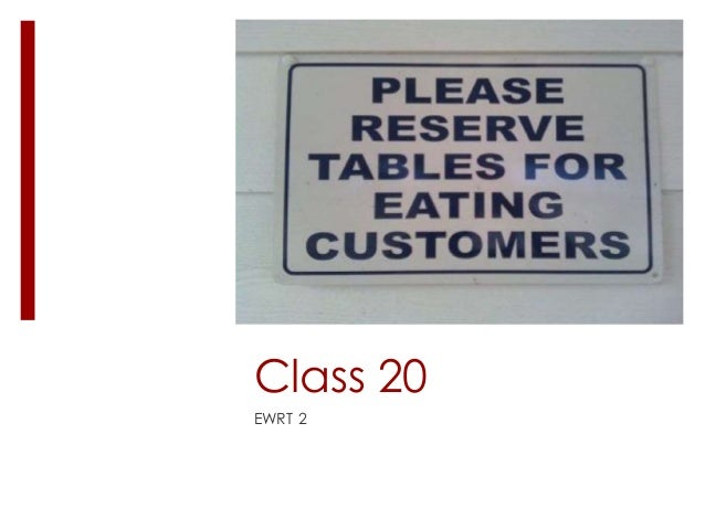 Class 20 EWRT 2