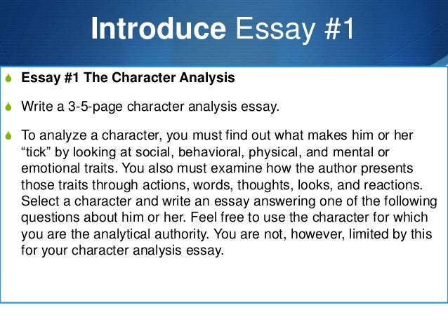character analysis essay claim Othello study guide contains a biography of william shakespeare, literature essays, a complete e-text, quiz questions, major themes, characters, and a full summary and analysis.