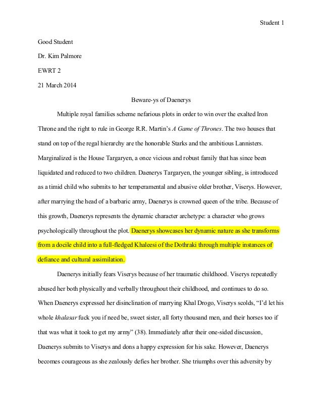 ewrt essay example student 1 good student dr kim palmore ewrt 2 21 2014 beware ys