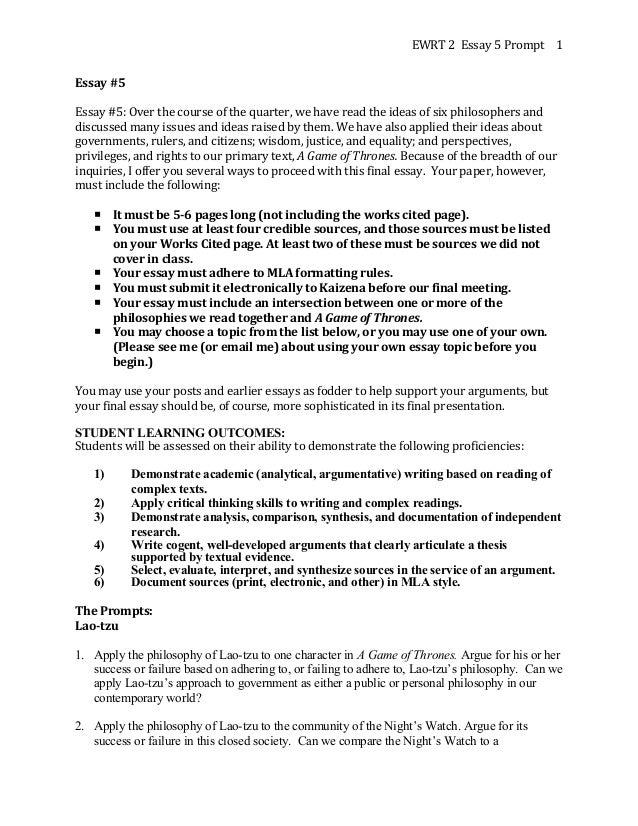 Ewrt 2 Essay 5