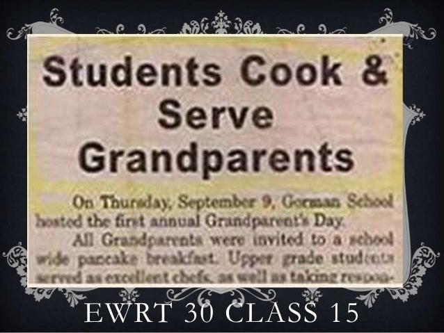 EWRT 30 CLASS 15
