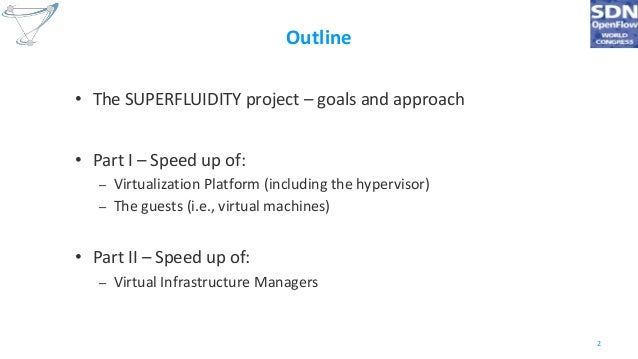 Superfluid NFV: VMs and Virtual Infrastructure Managers speed-up for instantaneous service instantiation Slide 2