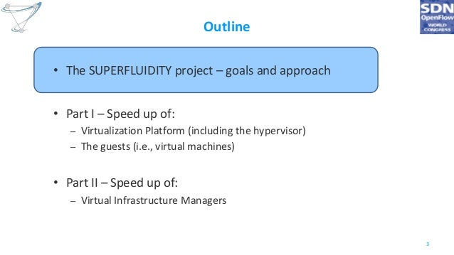 Superfluid NFV: VMs and Virtual Infrastructure Managers speed-up for instantaneous service instantiation Slide 3