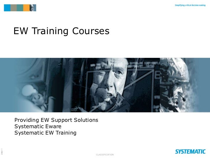 EW Training Courses         Providing EW Support Solutions         Systematic Eware         Systematic EW Trainingpage 1  ...