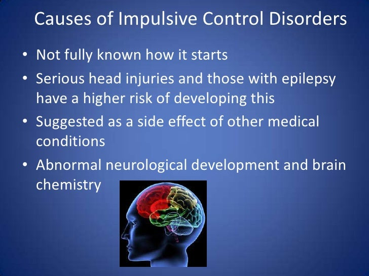 eating disorders and impulse control disorders Impulse control disorder (icd) is characterized by a failure to resist a temptation, urge, or impulse that may be harmful to oneself or others this can include addictions to alcohol or other drugs, eating disorders, gambling, arson, or rage.