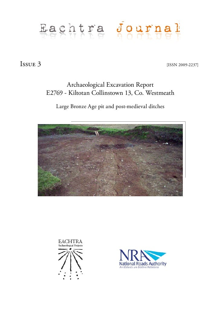 Eachtra Journal  Issue 3                                                       [ISSN 2009-2237]                     Archae...