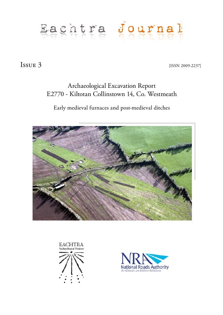 Eachtra Journal  Issue 3                                                     [ISSN 2009-2237]                     Archaeol...