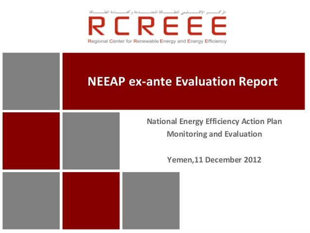 NEEAP ex-ante Evaluation Report         National Energy Efficiency Action Plan              Monitoring and Evaluation     ...