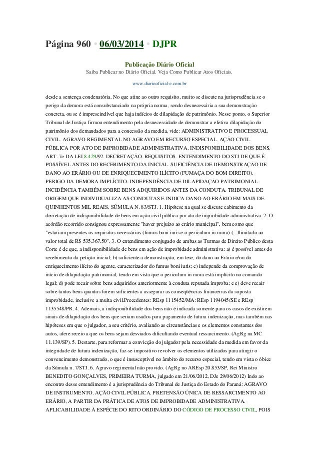 Página 960 • 06/03/2014 • DJPR Publicação Diário Oficial Saiba Publicar no Diário Oficial. Veja Como Publicar Atos Oficiai...