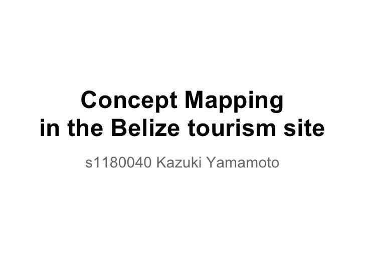 Concept Mappingin the Belize tourism site    s1180040 Kazuki Yamamoto