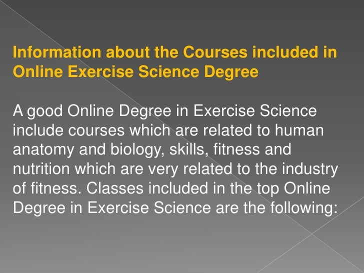 Studying for an Online Degree in Exercise Science