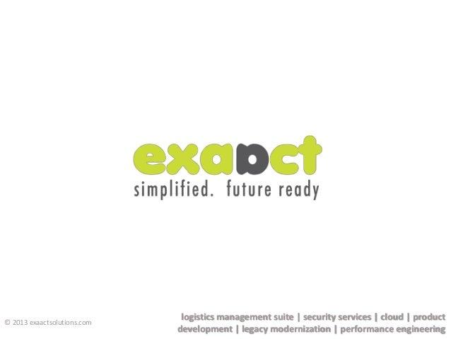 logistics management suite   security services   cloud   product development   legacy modernization   performance engineer...