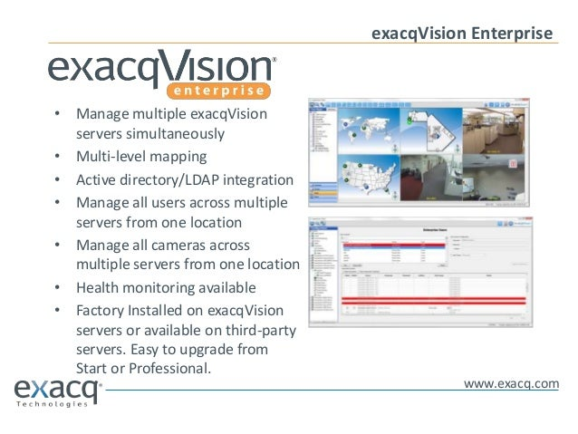 Exacq Technologies Overview June 2013