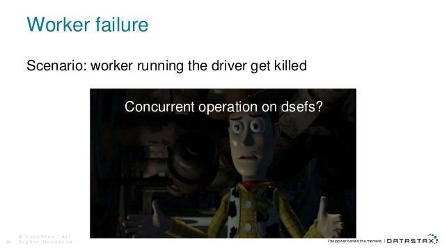 Worker failure © D a t a S t a x , A l l R i g h t s R e s e r v e d .13 Scenario: worker running the driver get killed Co...