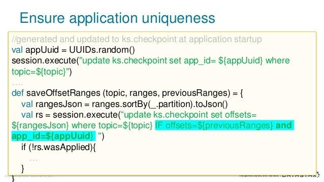 Ensure application uniqueness © D a t a S t a x , A l l R i g h t s R e s e r v e d .28 //generated and updated to ks.chec...