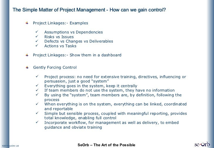 The Simple Matter of Project Management