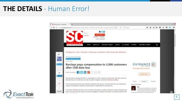 THE DETAILS - Human Error! 6