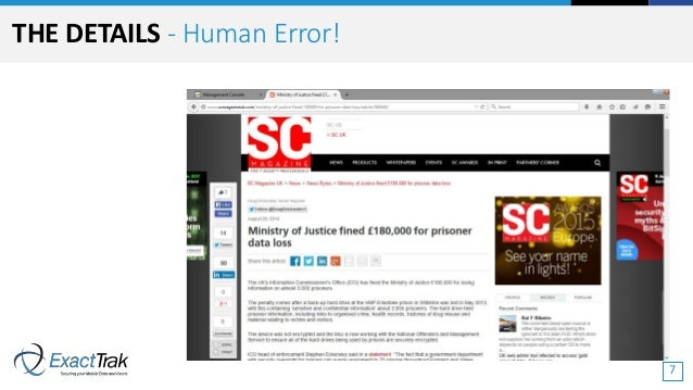 THE DETAILS - Human Error! 7