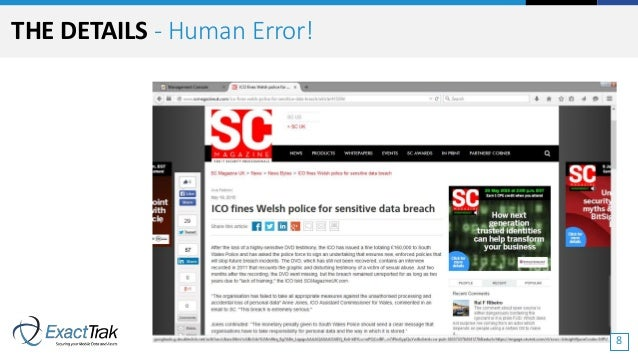 THE DETAILS - Human Error! 8