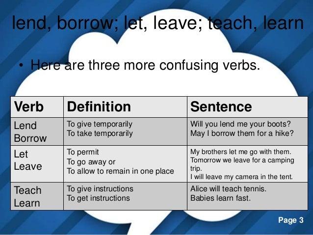borrow definition