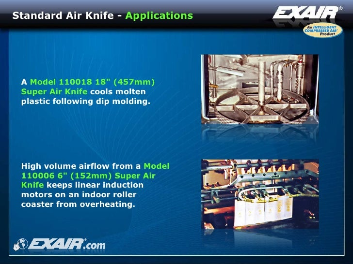 Exair air knives for Linear induction motor roller coaster