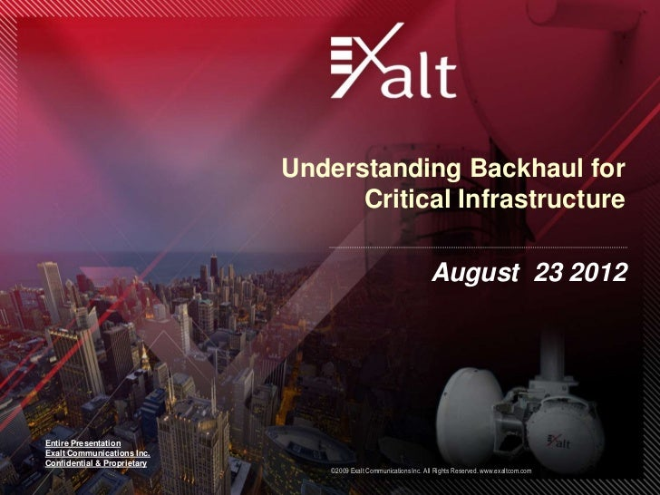 Understanding Backhaul for                                   Critical Infrastructure                                      ...