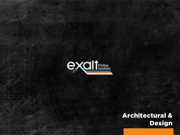 Architectural &        Design
