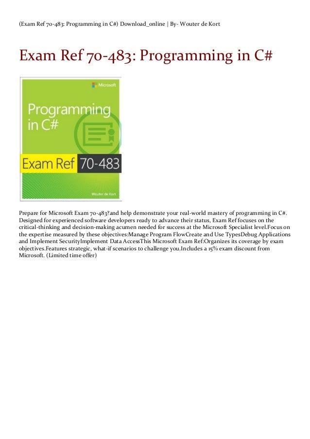 Exam Ref 70 483 Programming In C Download Online By Wouter De