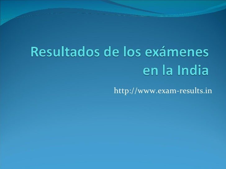 http://www.exam-results.in