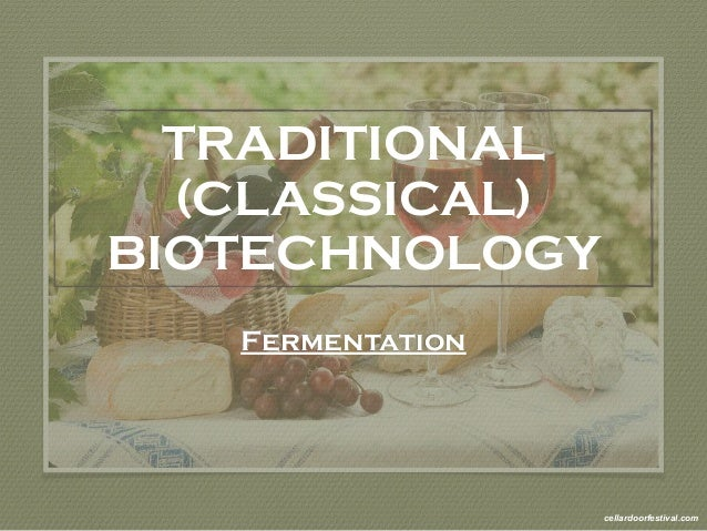 TRADITIONAL  (CLASSICAL)  BIOTECHNOLOGY  Fermentation  cellardoorfestival.com