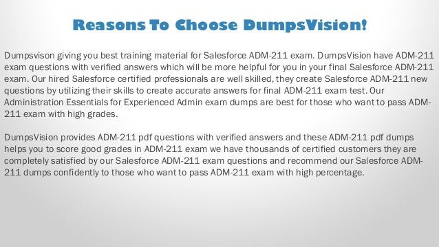Salesforce Administration Essentials ADM-211 Exam Dump PDF Test Simulator