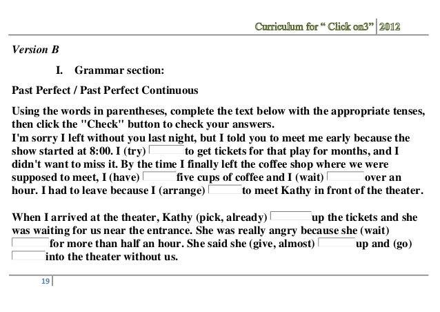 ответы click on 3 workbook progress test 2