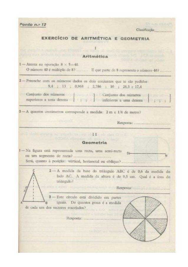 Exame da 4ª classe de 1966