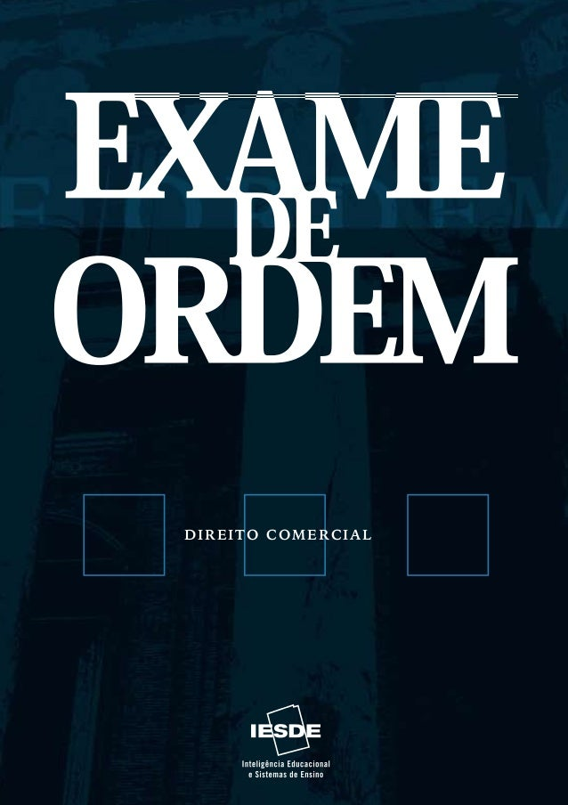 DIREITO COMERCIALEXAME DE ORDEM   DIREITO COMERCIAL                                            Fundação Biblioteca Naciona...