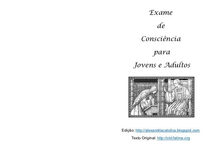 Exame                          de                Consciência                       para           Jovens e Adultos     Edi...