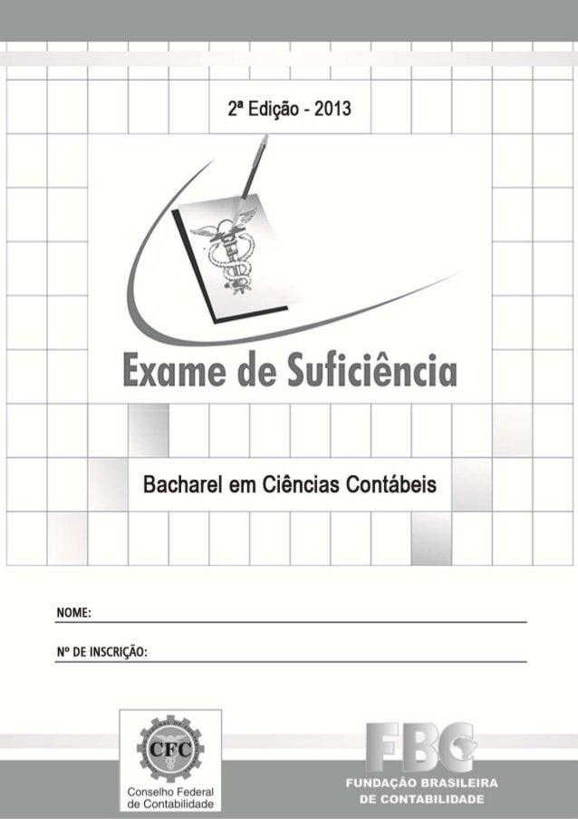 EXAME DE SUFICIÊNCIA Bacharel em Ciências Contábeis 2