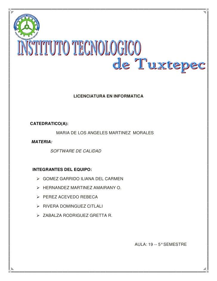 -607060-407035<br />LICENCIATURA EN INFORMATICA<br />       <br />CATEDRATICO(A):  <br />                      MARIA DE LO...