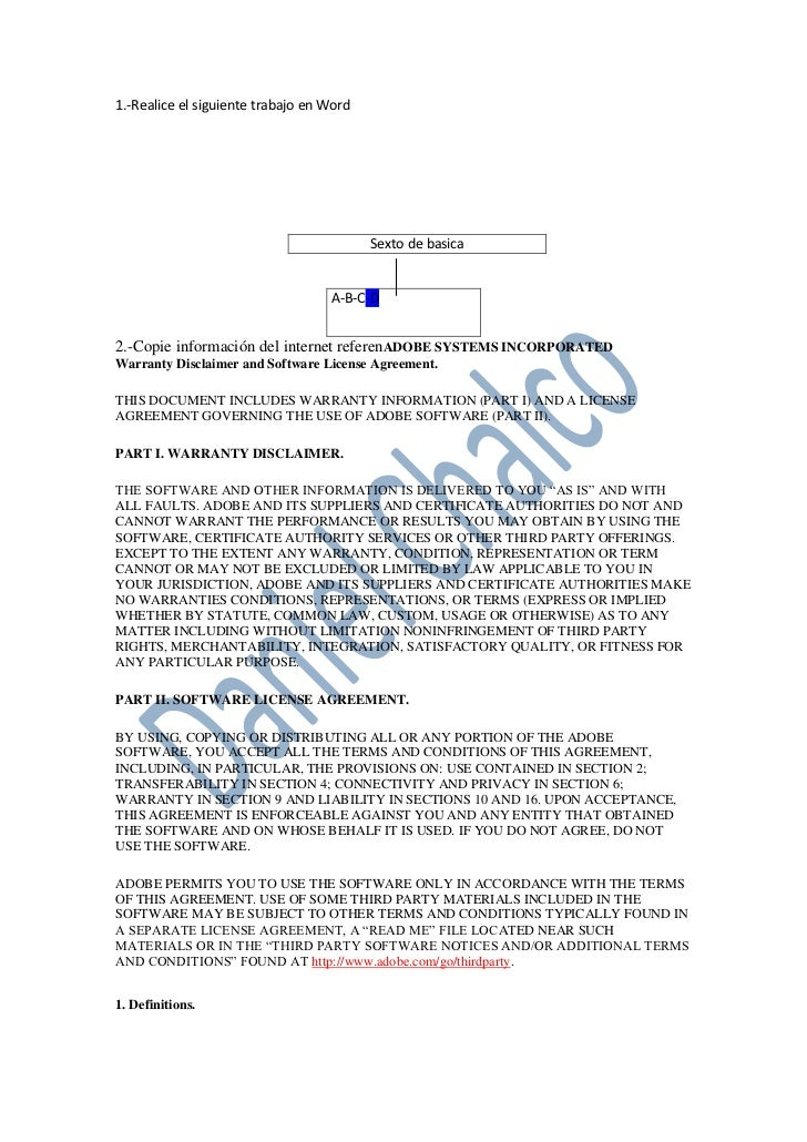 1.-Realice el siguiente trabajo en Word<br />Sexto de basica<br />A-B-C-D<br />2.-Copie información del internet referenAD...