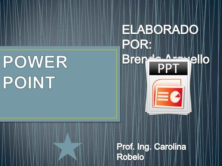 • PowerPoint es la herramienta que nos ofrece Microsoft  Office para crear presentaciones. Las presentaciones son  impresc...
