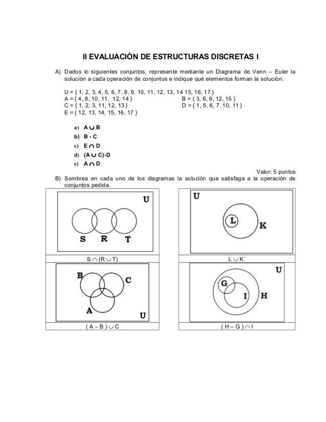 Examen conjuntos ii evaluacin de estructuras discretas i a dados lo siguientes conjuntos represente mediante un ccuart Images